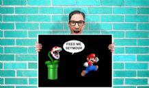 Feed me Seymour Little shop of horrors mario Art - Wall Art Print Poster Pick A Size - Musical Art Geekery
